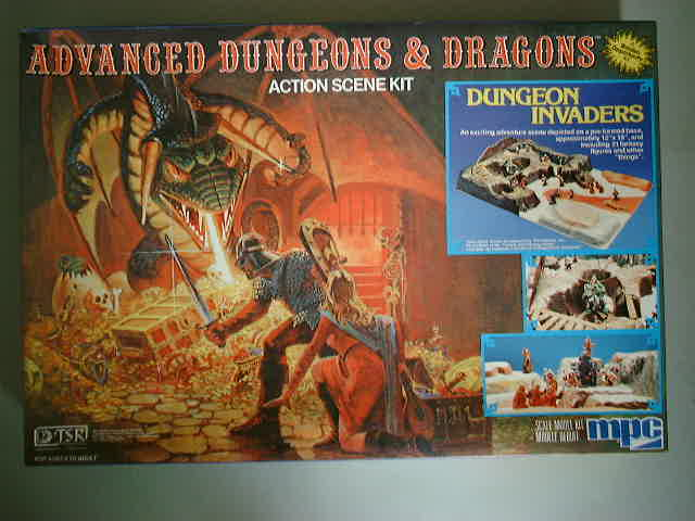 Dungeon Invaders, an old MPC plastic diorama kit