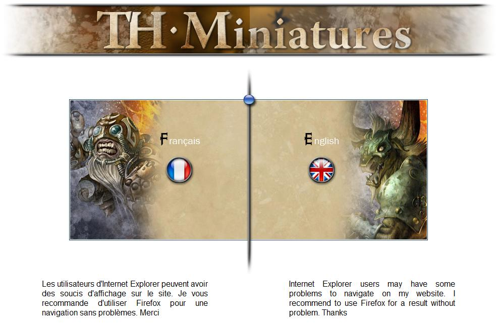 TH Miniatures, in English and French